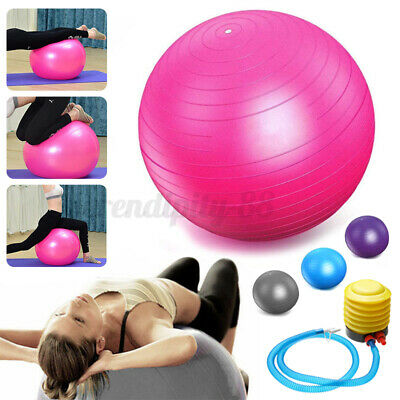 75 Cm Gym Yoga Ball Exercise Swiss Fitness Pregnancy Birthing Anti Burst + Pump