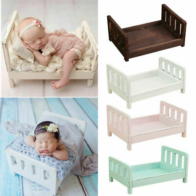 Lovely Newborn Wood Bed Baby Photo Photography Props Shoot Gift Infant Posing UK