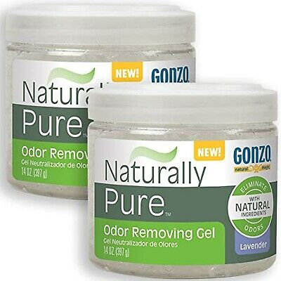 Gonzo Natural Magic Naturally Pure Odor Removing Gel 14 Ounce 2Pack Works On Pet