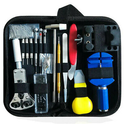 147Pcs Watch Repair Tool Kit Case Opener Link Spring Bar Remover Watchmaker T OY