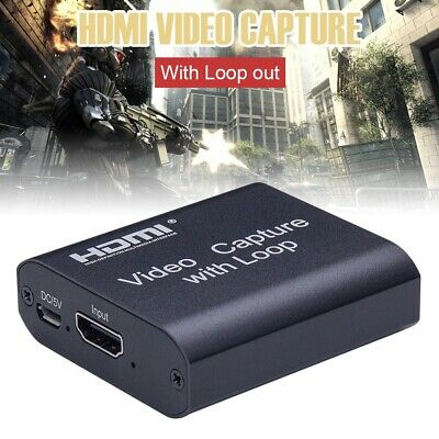 Video Capture Device 1080 HDMI Loop-out Disk Game Card for Windows/Android/macOS
