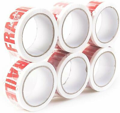 12 Rolls of Fragile Packing Tape 48mm X 66m