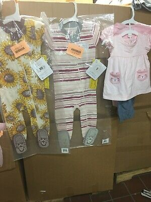 BABY GIRLS Clothes Sz 12 Months Lot/Bundle Of 3 Piece Spring, Summer, Winter New