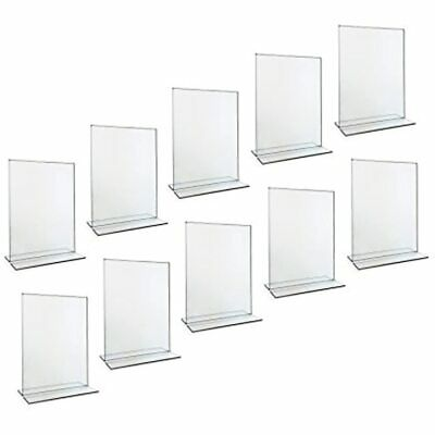 Beryland Acrylic Sign Holder - 5 X 7 Inches Side Insert, 10-Pack Of Holders (Box