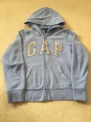 Girls Denim Blue Logo Hoodie - size 12 years/XL - GAP - Excell.used
