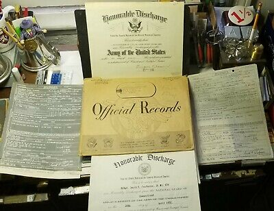 HONORABLE DISCHARGE US ARMY Original Genuine DOCUMENTS CERTIFICATE 1952 Signed
