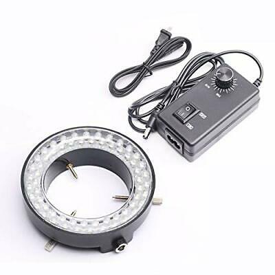 DEVMO 60-LED Adjustable Ring Light Illuminator Lamp for Stereo Zoom Microscope