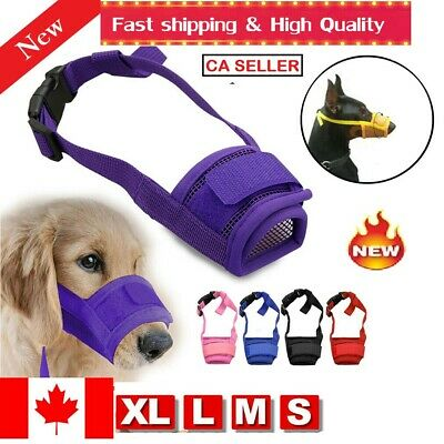 Pet Dog Mouth Adjustable Cover Muzzle Anti Barking Bite Chew Breathable DIFFSIZE