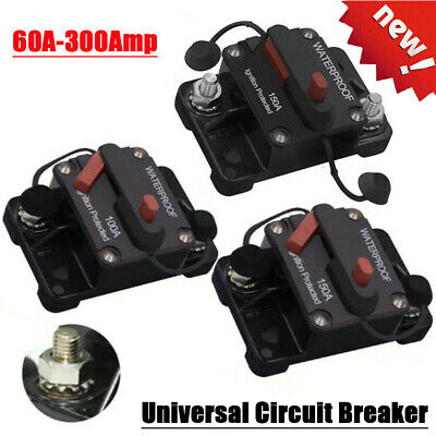 Universal Auto Circuit Breaker Audio Fuse Holder Switch for Car Yacht 60A-300Amp