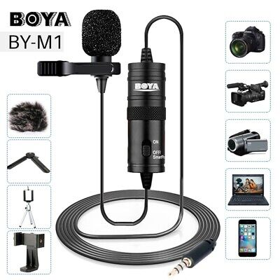 BOYA BY-M1 3.5mm Lavalier Lapel Microphone for Canon Nikon DSLR Camcorder iPhone