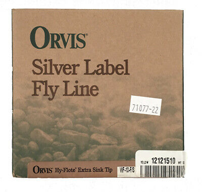 NEW Orvis Silver Label Fly Line!  WF-10-F/S   Hy Flote Extra Sink Tip  Yellow