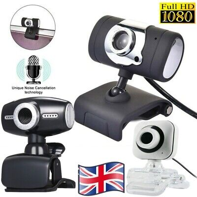 1080P Full HD Web Camera Webcam with Microphone Video Voice Laptop Desktop PC UK