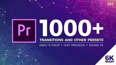 1000+ Seamless Drag-n-Drop Transitions for Premiere Pro | Instant Delivery