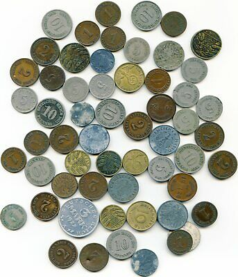 Germany  lot of (50) Vintage coins    lotmar5050