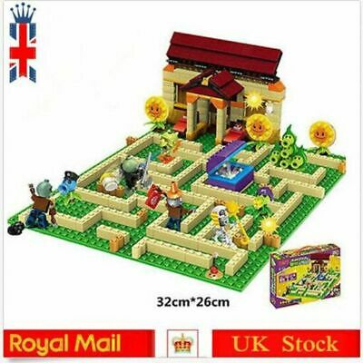 UK Plants Vs Zombies Garden Maze Lego Compatible Struck Kid Game Building Block