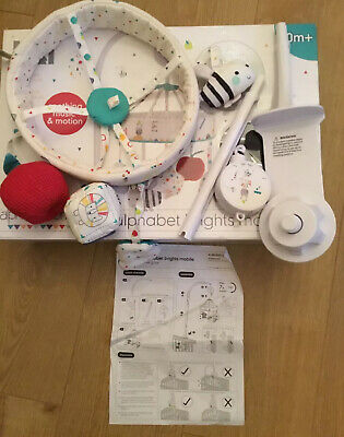 Mothercare Alphabet Brights  Musical Cot Mobile 🌟 New 🌟