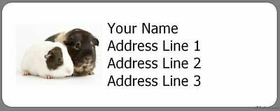 """Cute Guinea Pigs - 30 Personalized Photo Address Labels Wildlife - 1""""x2.625"""""""