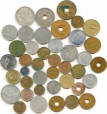African  lot of (50) vintage coins