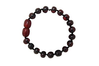 Cherry Teething Bracelet Handmade Natural