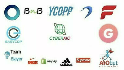 Multiple Sneaker Bot Pack- Supreme, SNKRS, CyberAIO, Ghost, Dashe, ANB, Adidas