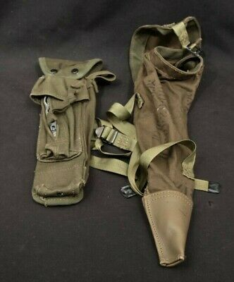 LOT 2x Korean War Era US Army Canvas Gear M42A1 Tripod Case & XM3 Bipod Case