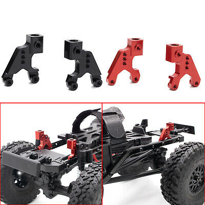 Axial SCX24 upgrade Exhaust Stacks Chrome Finish Matches Stock Wheels Angled