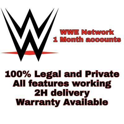 WWE Network Premium accounts | 1 Months | Wrestling |100% GUARANTEED