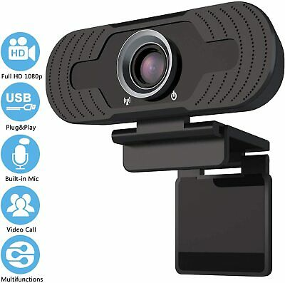 Webcam 1080P Full HD Microphone Camera USB Desk & Laptop PC Live Streaming Video