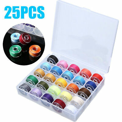 25pcs Sewing Thread Set with Plastic Bobbins Sewing Machine Spools Case HOT SALE
