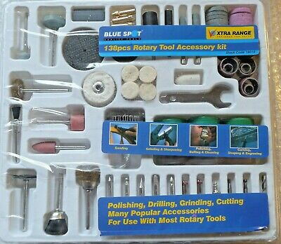 New 138 Pc Rotary Tool Accessory Set Drilling Polishing Grinding Cutting