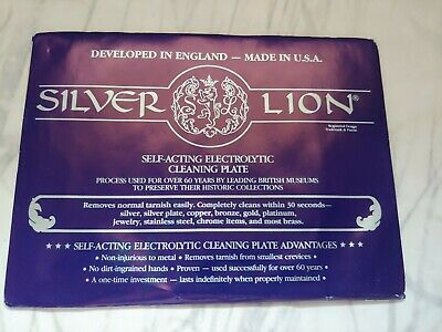 Silver Cleaner Silver Lion Self - Acting Electrolytic Cleaning Plate USA