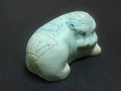 Rare ancient egyptian antique blue faience statue Hippo  BC