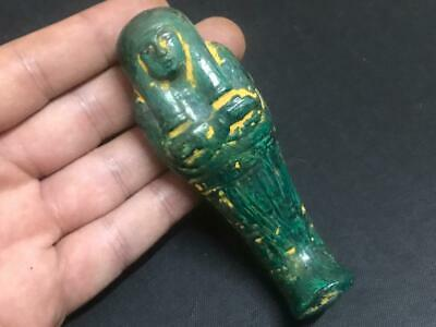 Rare ancient egyptian antique faience statue Ushabti BC