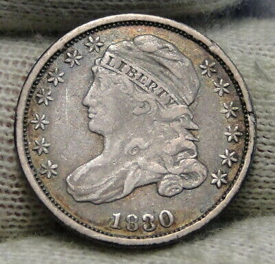 1830 Capped Bust Dime 10 Cents - Nice Coin, Free Shipping  (8257)