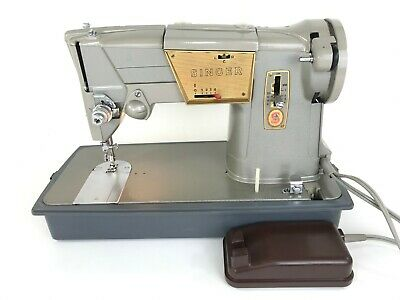 Singer 328K Style-O-Matic Heavy Duty Electric Sewing Machine UK Made& Foot Pedal