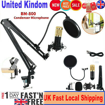 NW-800 Studio Condenser Microphone Mic Sound Recording Kit with Shock Mount UK U