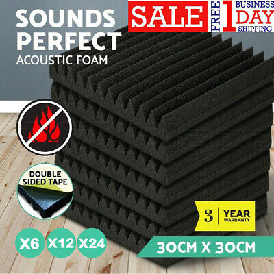 6/12/24PC Acoustic Wall Panels Sound Insulation Proofing Foam Studio Treatments