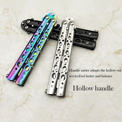 Butterfly Practice Knife Stainless Steel Ornamental Knife Without Cutting YBS