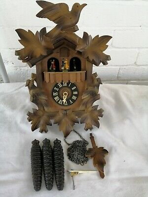 Vintage, Black Forest, Triple Weight, Musical Cuckoo Clock. For Restoration.
