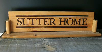 Rare Vintage Advertising SUTTER HOME WINE Standing Wood Trade Sign Liquor Store