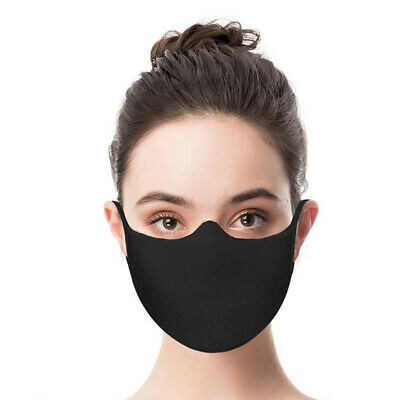 FACE MASK Reusable Black Cover Protective Mouth Nose Guard Washable Protection