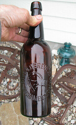 QT Blob Top old BUFFALO BREWING CO. / SACRAMENTO CAL 1890's beer bottle