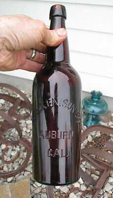 QT Blob Top old A. W. KENISON / AUBURN, CAL 1890's beer bottle Western Brewery