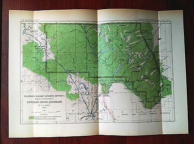 1898 Flathead Forest Reserve Montana Map of Engelmann Spruce and Balsam Ayres