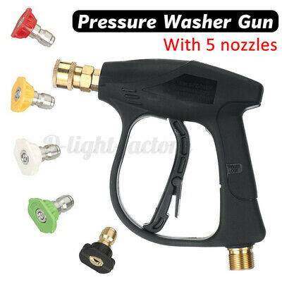 3000PSI High Pressure Washer Wand Gun Turbo Spray Nozzle Hose For Car Clean