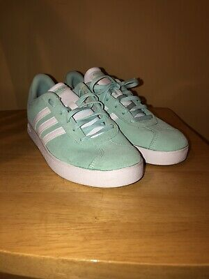Adidas Kids VL Court 2.0 Sneakers Shoes mint color. Size 6.5 Youth