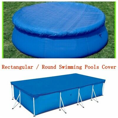 Rectangle/Round Swimming Pool Cover Protection Case Garden Outdoor Paddling Fun