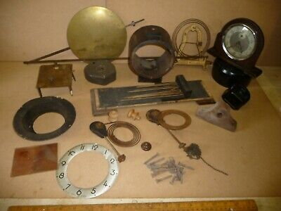 Antique / Vintage Clock parts .Wall Clock Pendulum / Smiths Alarm / Chimers etc