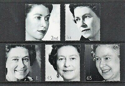 GB Stamps 2002 'Golden Jubilee' sg2253a-2257a (wmk upright) - U/M