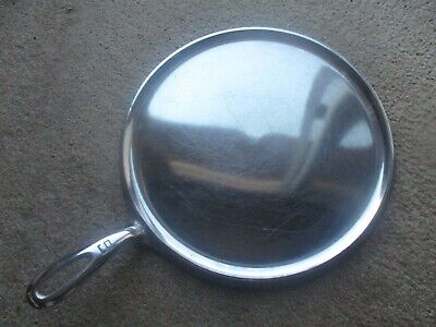 """""""Fully Restored!"""" Griswold #9 Lg Block Logo Cast Iron Round Handle Griddle"""